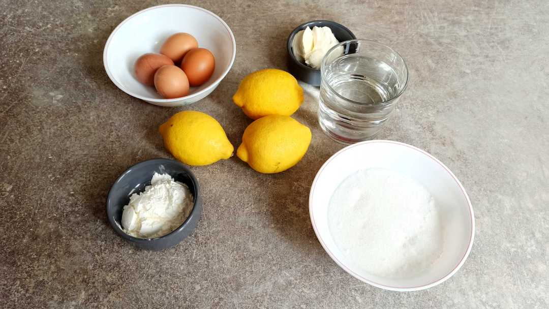 Les ingrédients de la mousse au citron facile