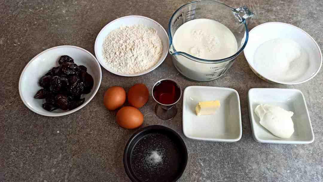 Les ingrédients du far breton