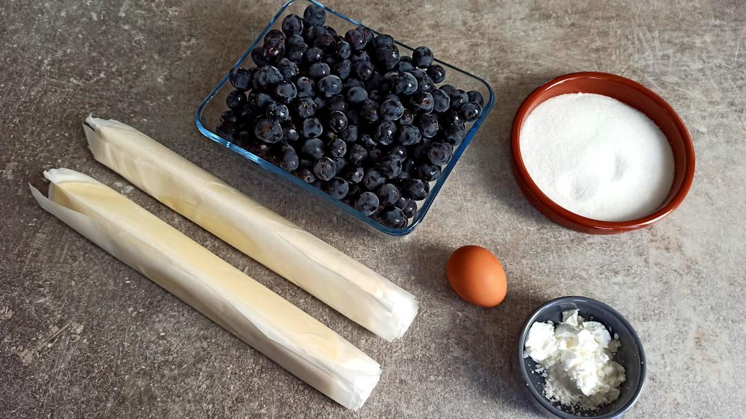 Les ingrédients pour la Condord Grape Pie revisitée