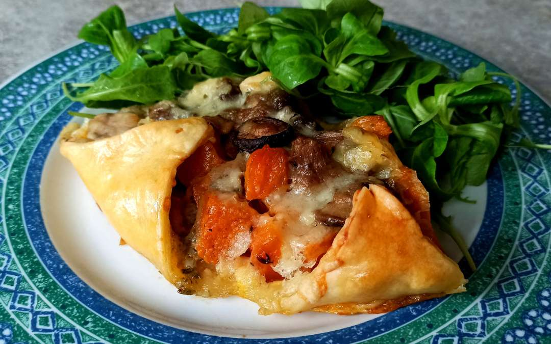 Couronne butternut roquefort et champignons