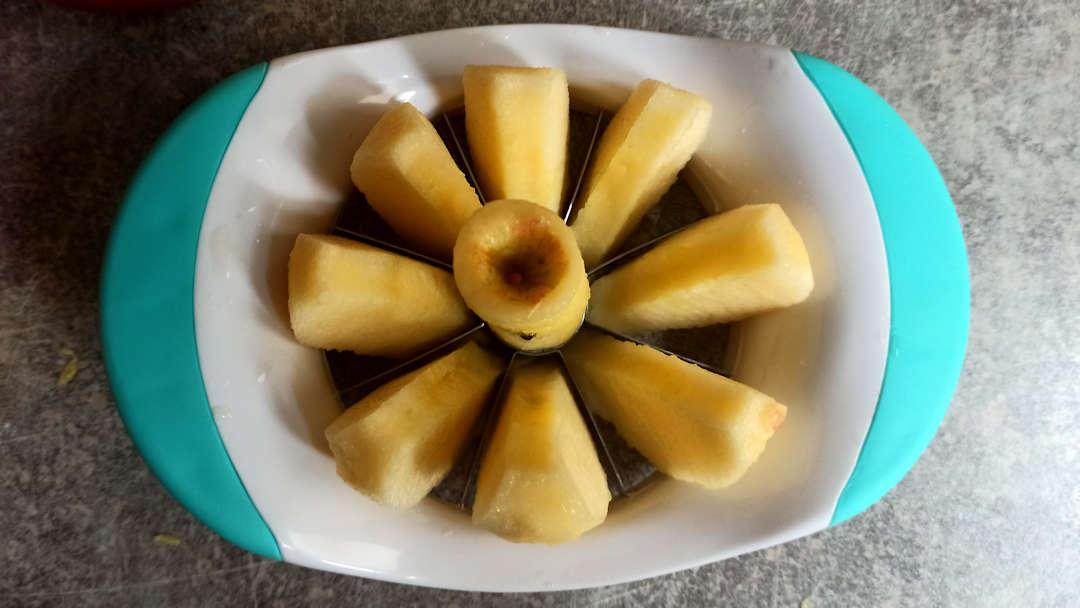 Utiliser un découpe pomme