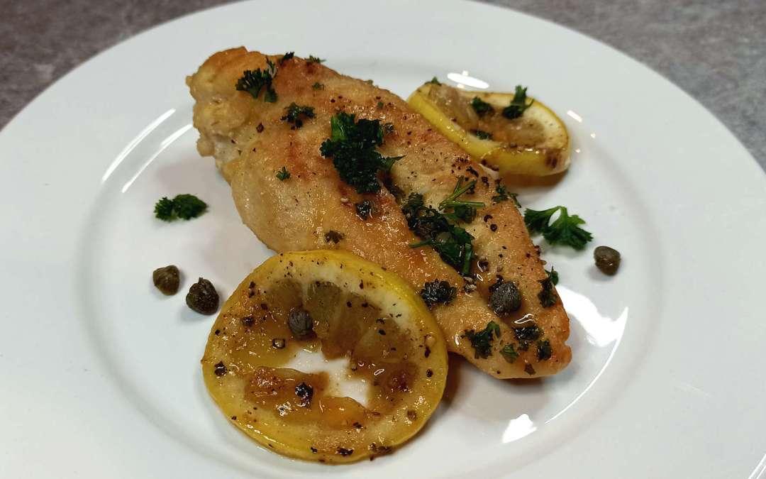 Piccata de poulet au citron, une spécialité italienne