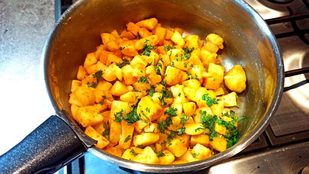 La préparation des pommes de terre