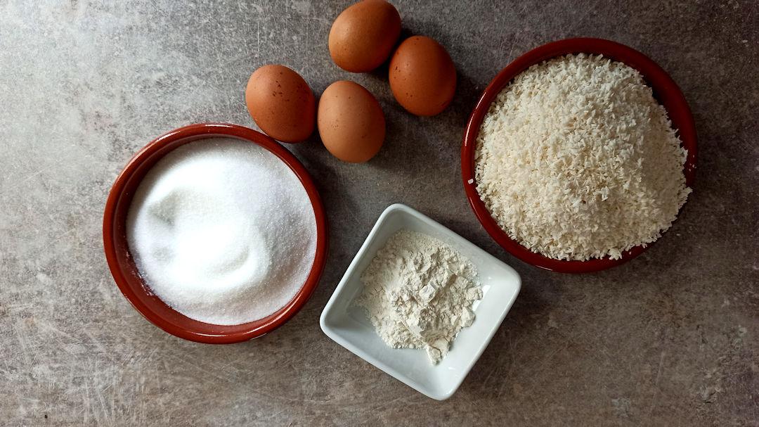 Les ingrédients des rochers coco