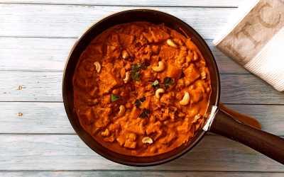 Curry de butternut noix de cajou et lait de coco