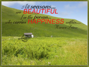 Happiness within