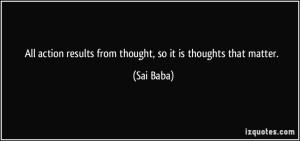 thouths matter