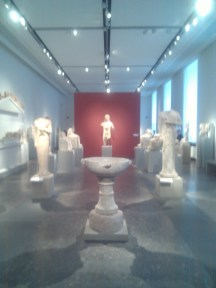 Sculpture from the Greek, Roman, and Etruscan exhibition at the Altes Museum.