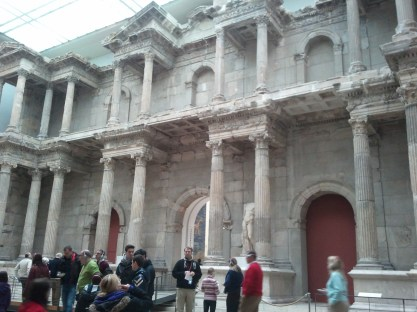 The Pergamon Museum's Market Gate of Melitus, again excavated, transported from its original location (Greece), and reconstructed.