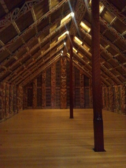 Auckland Museum: the interior of Hotuni, the Maori meeting house.