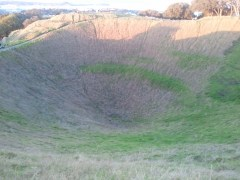 Mount Eden is a dormant volcano; this is its cone.