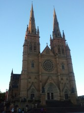 The main front of St. Mary's Cathedral, seat of the Archbishop of Sydney.