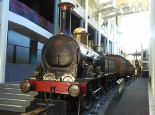 The Powerhouse Museum's Locomotive No. 1, which hauled the first passenger train in New South Wales.
