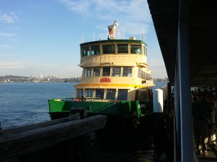 The ferry that took me from downton Sydney to its Taronga Zoo.