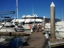 Our Great Barrier Reef scuba dive boat.