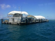 There are structures permanently moored at the Great Barrier Reef, to allow repeated diving/snorkling/etc. This was one of those.