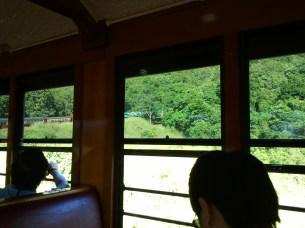 Interior of my Kuranda Scenic Railway car, built around 1910, and refurbished in the 1930's.