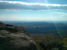 The view looking southeast at one of the first major rest stops on Old Rag.