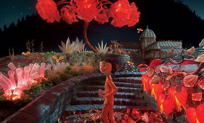 Fantastic garden scene from Coraline