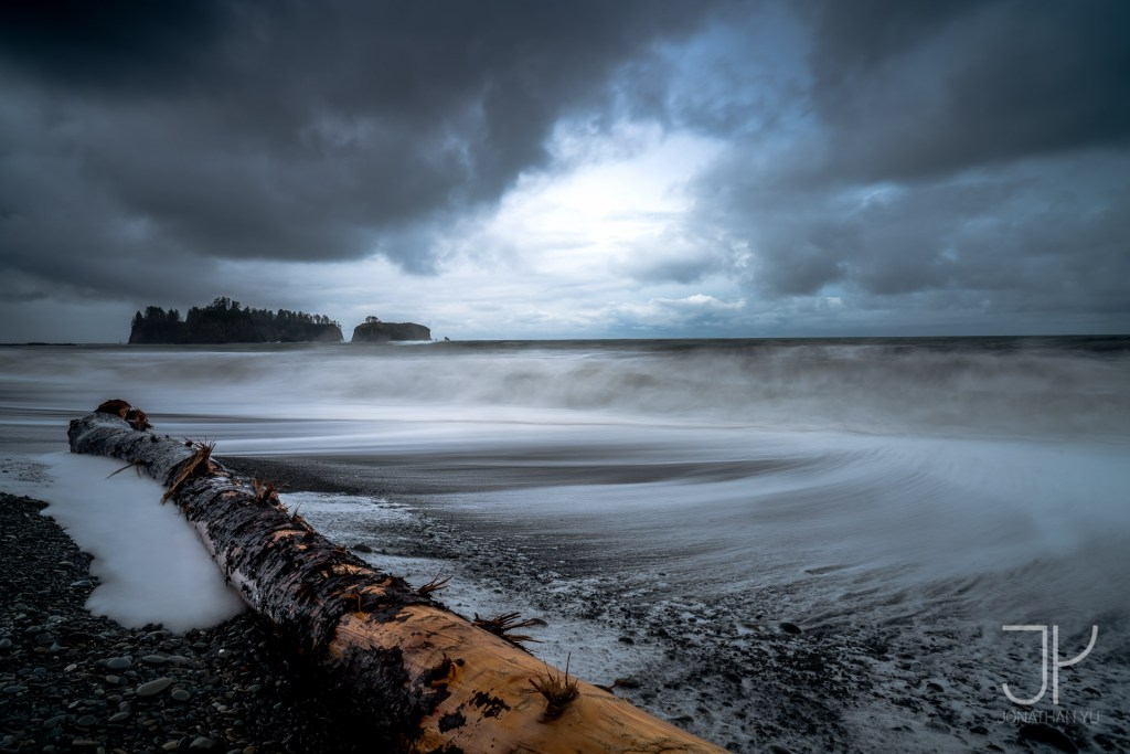 A small break in a storm at Olympic National Park.