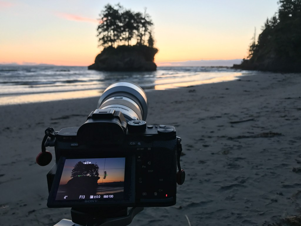 Enjoying the sunset - iPhone
