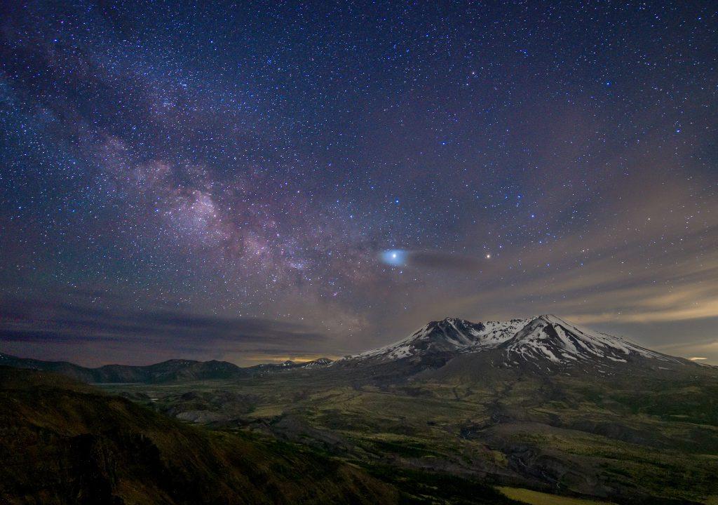 Milky Way at Mount Saint Helens on Johnston Ridge