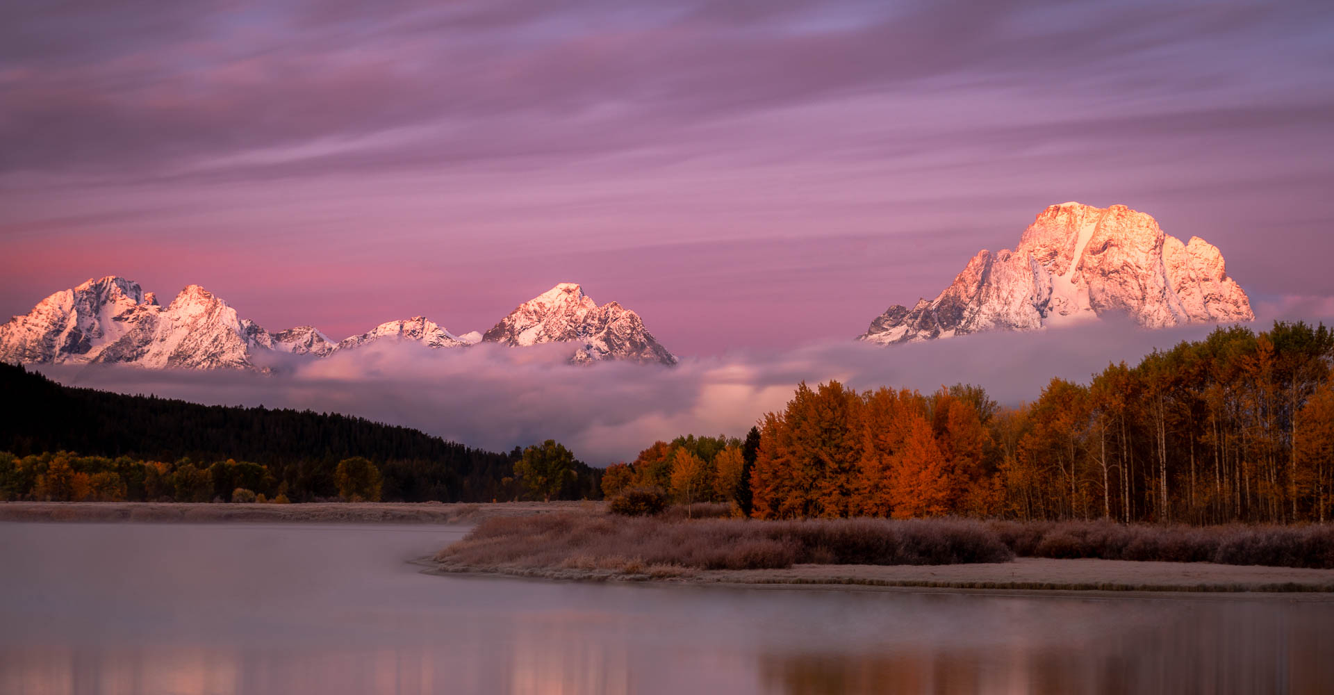 Oxbow Landing, Grand Teton Sunrise