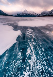 Abraham Lake Sunset