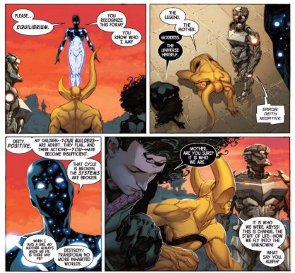 Where was this all-powerful god 20 pages ago when the Avengers were getting their asses kicked?