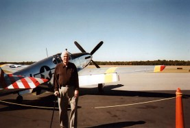 Dad and a P-51, 2013.