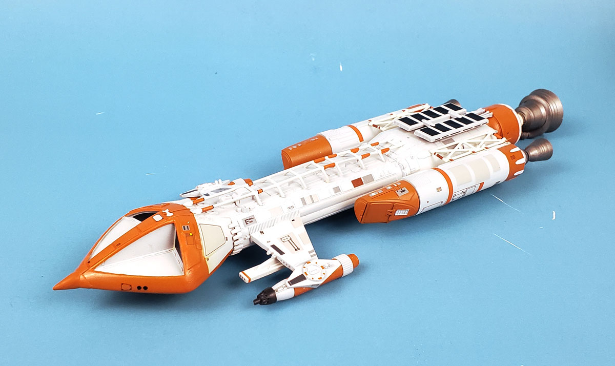 Adding paint and decals to the MPC 1/72 Space 1999 Hawk Mk  IX