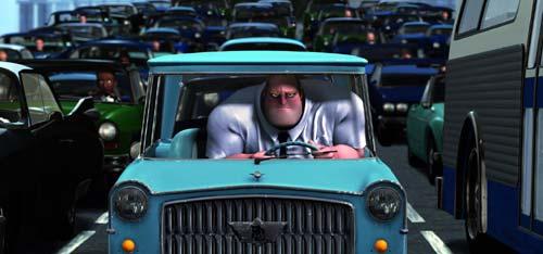 Mr Incredible stuck in traffic