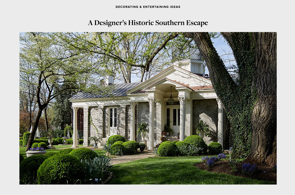 Botherum featured in One Kings Lane: A Designer's Historic Southern Escape