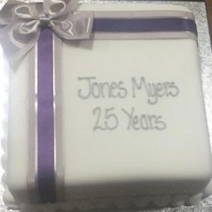 Jones Myers 25th Birthday Cake