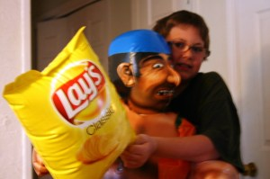 Fight the pirate for chips?