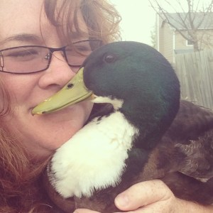 Mama and her duck, Petey