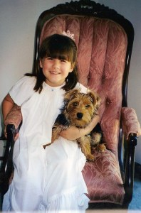 Daughter and dog
