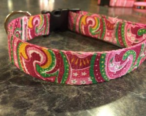 Paisley dog collar from Darla Janes