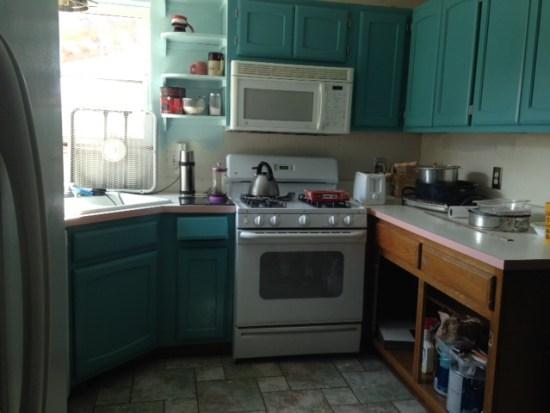 A kitchen remodel in progress