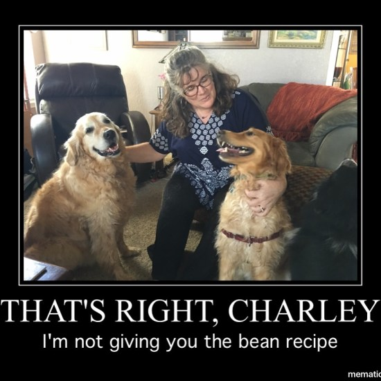 Charlie wouldn't give me the secret recipe www.DotTreatWeb.com