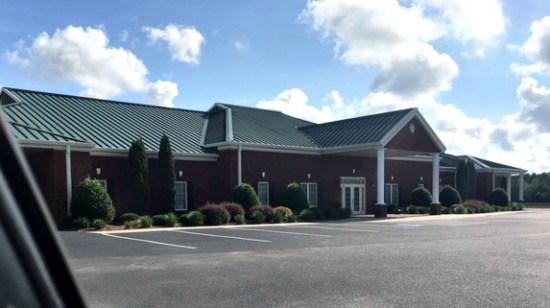 A funeral home in South Carolina where Gunny pooped