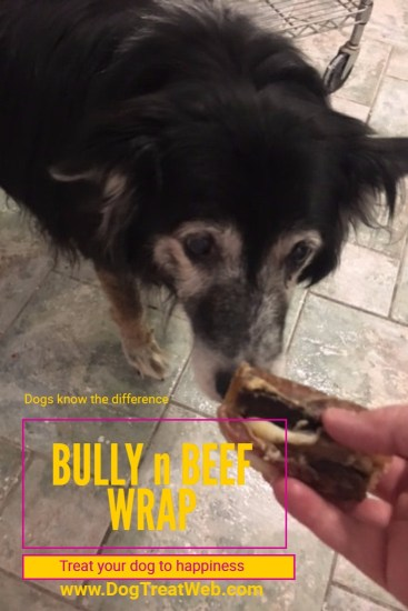Treat your dog to happiness with Jones Natural Chews Bully n Beef Wrap