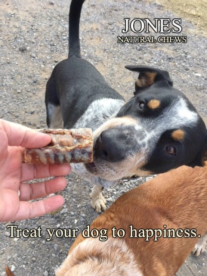 Farm dogs love treats as much as any other dogs, but they especially love Jones Natural Chews