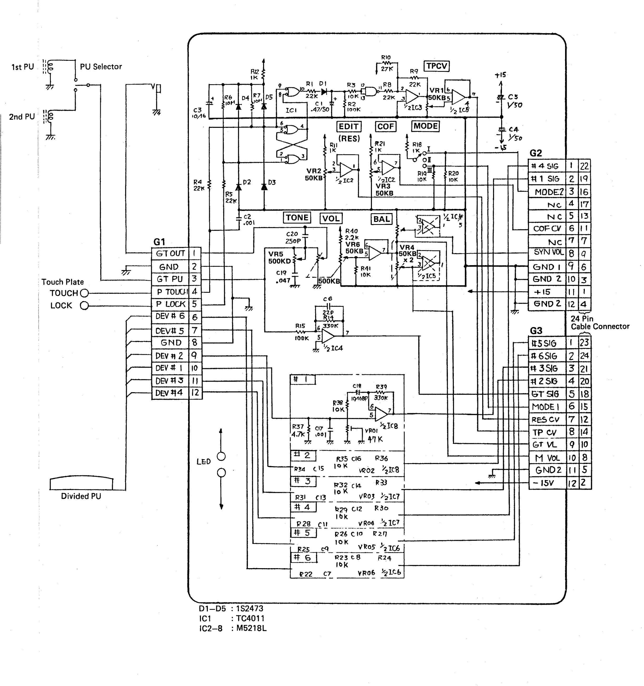 Teisco Guitar Wiring Diagram Imperial - Schematics Online on