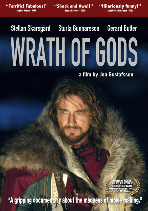 Gerard Butler in Wrath of Gods a documentary about filmmaking