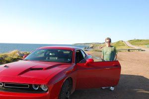 Canada by rental car.