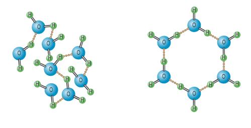 heksagonalna cząsteczka wody