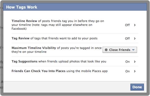 Facebook Privacy Tagging