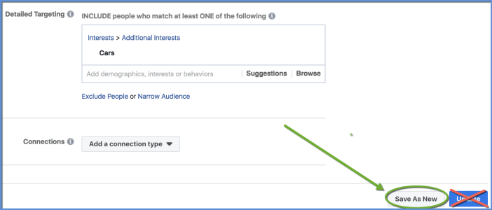 Save as New Audience to Duplicate - Ads Manager