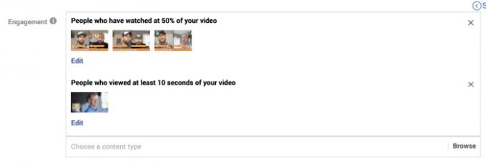 Facebook Video Engagement Custom Audience